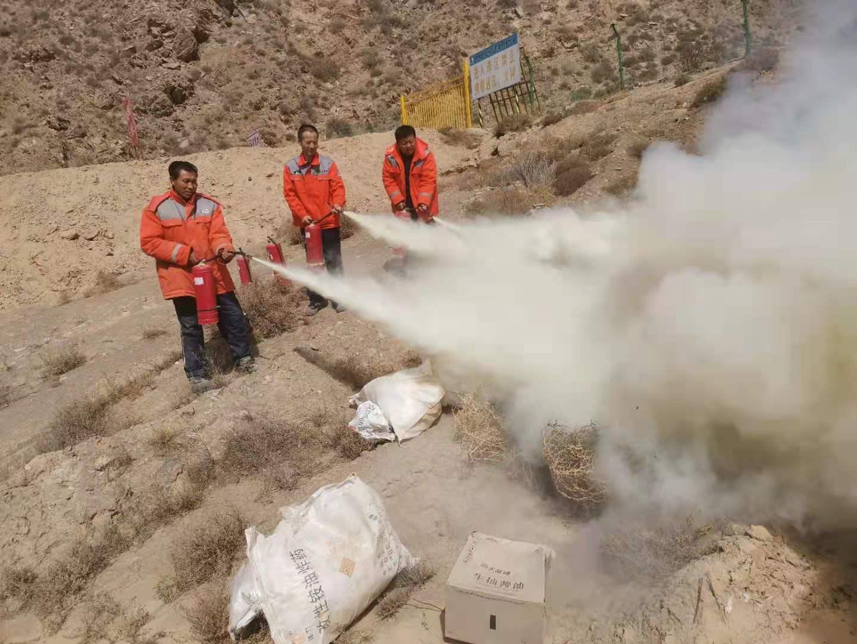 白银项目部开展消防千亿体育官网培训