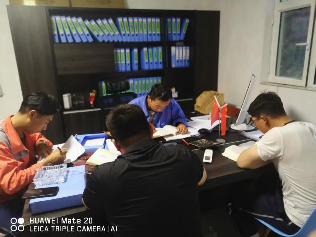 中材天水项目部技术小组开展专业知识学习